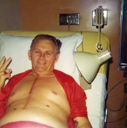 Dad, 1974 after bypass surgery.