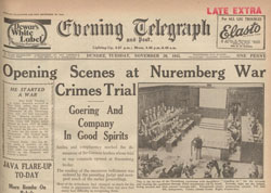 Nuremberg trial begins.