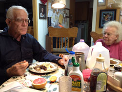 Dinner, same table, same people, fifty years later.