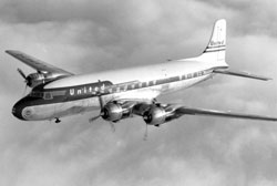 A United Airlines DC6